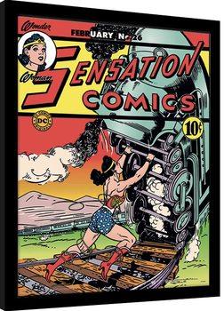 Πλαισιωμένη αφίσα Wonder Woman - Train Tussle