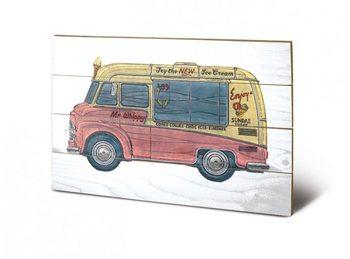 Obraz na dřevě BARRY GOODMAN - icecream van