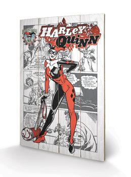 Obraz na dřevě - Harley Quinn - aka Dr. Harleen Francis Quinzel