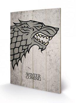Obraz na dřevě - Hra o Trůny - Game of Thrones - Stark