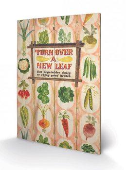 Obraz na dřevě IWM - Turn Over A New Leaf
