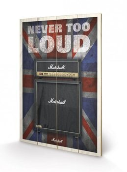 Obraz na dřevě MARSHALL - never too loud
