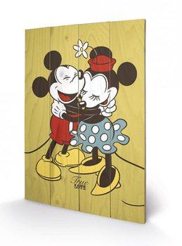 Obraz na dřevě - Myšák Mickey a Minnie - Pravá láska