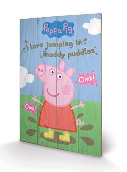 Obraz na dřevě  Prasátko Peppa - Muddy Puddles