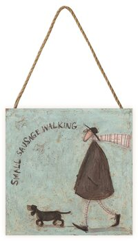 Obraz na dřevě Sam Toft - Small Sausage Walking