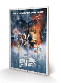 Obraz na dřevě Star Wars: The Empire Strikes Back - One Sheet