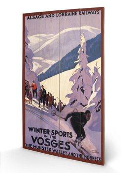 Obraz na dřevě Winter Sports In The Vosges