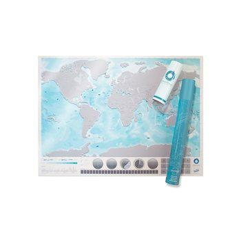 Stírací mapa World Ocenas Edition