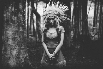 xудожня фотографія Black and White Mood in the Forest