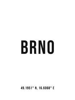 Ілюстрація Brno simple coordinates