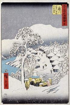 Characters under the snow, Japan - Japanese print by Hiroshige Utagawa - 19th century Картина