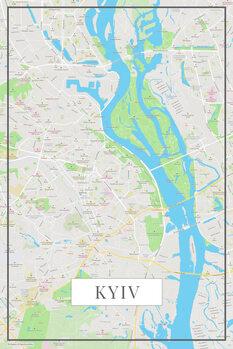 Карта Kyiv color