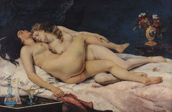 Le Sommeil, 1866 Картина