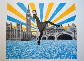 London Stride, 2018, Screenprinting Картина