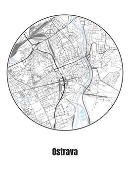 Карта Ostrava