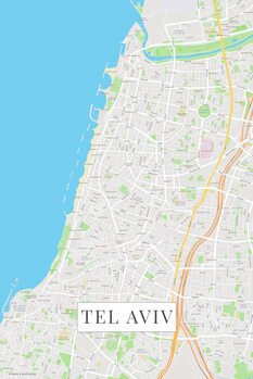 Карта Tel Aviv color