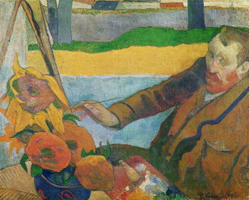 Van Gogh painting Sunflowers, 1888 Картина