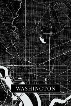 Карта Washington black