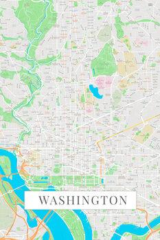 Карта Washington color