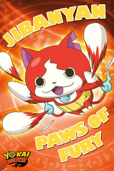 Yo-Kai Watch - Paws of Fury - плакат (poster)