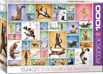Puzzel Yoga Cats