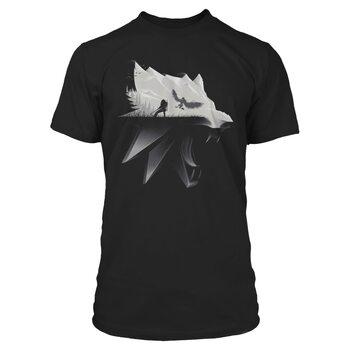 Tričko Zaklínač 3: Divoký Hon (The Witcher)  - Wolf Silhouette