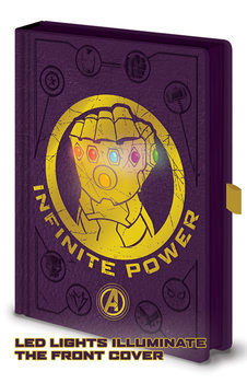 Zápisník Avengers: Infinity War - Gauntlet LED