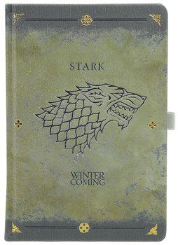 Zápisník Game Of Thrones - Stark Worn Premium