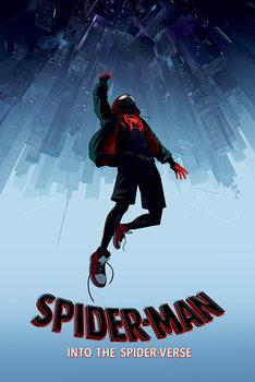 Rámovaný plakát  Spider-Man: Paralelní světy - Fall
