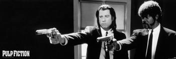 Rámovaný plakát Pulp Fiction - b&w guns