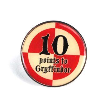 Značka Harry Potter - 10 Points Gryffindor
