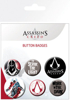 Komplet značk Assassins Creed - Mix
