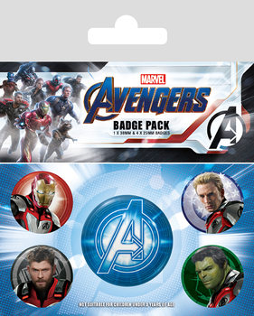 Komplet značk Avengers: Endgame - Quantum Realm Suits