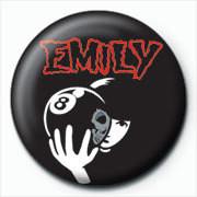 Emily The Strange - 8 ball Značka