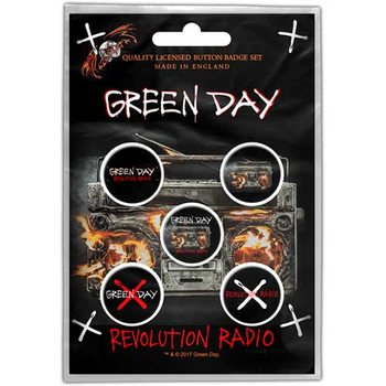 Komplet značk GREEN DAY - REVOLUTION RADIO