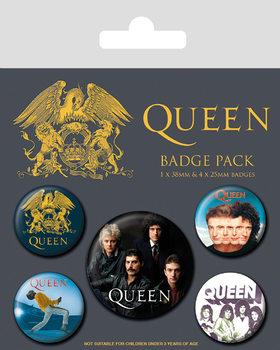 Komplet značk Queen - Classic