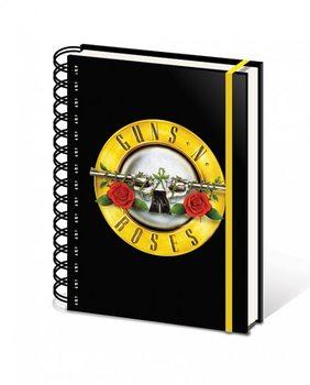 Guns N' Roses - Bullet Logo A5 Wiro Zvezki