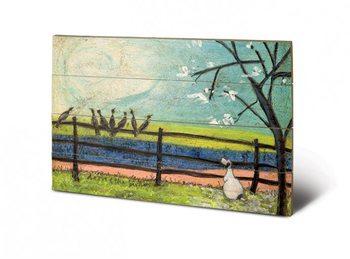 Изкуство от дърво Sam Toft - Doris and the Birdies