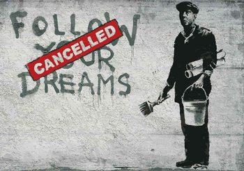 Banksy Graffiti Concrete Wall Фото-тапети