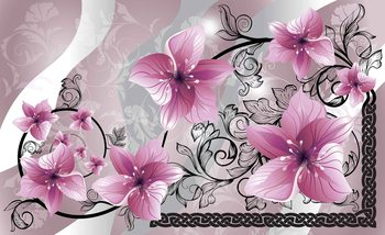 Flowers Floral Pattern Фото-тапети