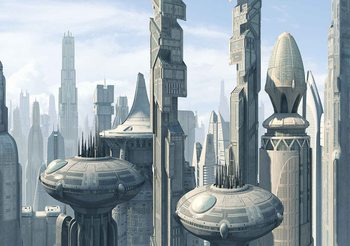 Star Wars City Coruscant Фото-тапети