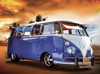 Volkswagen - Camper Van Sunset Фото-тапети