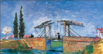 The Langlois Bridge at Arles, 1888 (part.) Художествено Изкуство