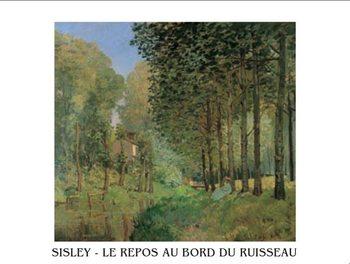 The Rest beside a Creek, 1872 Художествено Изкуство