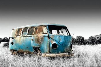 Abandoned Camper Van - плакат