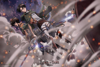 Attack on Titan (Shingeki no kyojin) - Battle плакат