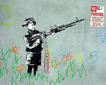 Banksy Street Art - No Parking - плакат