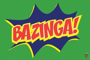 BIG BANG THEORY - bazinga icon плакат