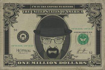 Breaking Bad - Heisenberg Dollar плакат