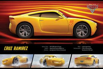 Cars 3 - Cruz Ramirez Stats плакат